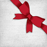 Red bow-knot . Stock Photo