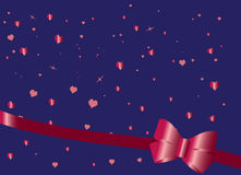 Red bow love card Royalty Free Stock Photos