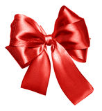 Red bow made from silk Stock Photography