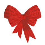 Red bow with moire effect isolated on white Royalty Free Stock Photos