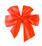 Red bow  over white background. Holiday Royalty Free Stock Photo