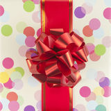 Red bow and ribbon Stock Image