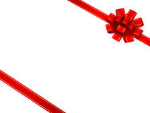 Red bow and ribbon Royalty Free Stock Images