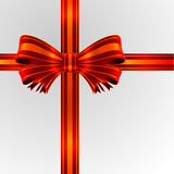 Red bow ribbon Royalty Free Stock Photos
