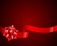 Red bow and ribbon Royalty Free Stock Image