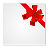 Red Bow And Ribbon. Red background with bow or ribbon Stock Images