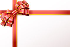 Red bow and ribbon. Stock Photo
