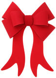 Red bow & ribbon Royalty Free Stock Images