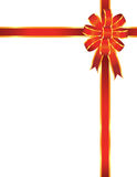 Red bow and ribbon Stock Photography