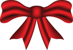 Red bow ribbon. 3D red decorative bow ribbon Stock Images