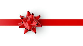 Red Bow and Ribbon Royalty Free Stock Photos