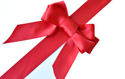 Red bow and ribbon gift wrap Royalty Free Stock Photography