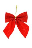 Red bow ribbon ornament Stock Images