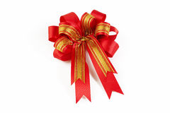 Red bow ribbon Stock Image