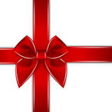 Red bow ribbon  Royalty Free Stock Image