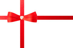 Red bow and ribbons Stock Images