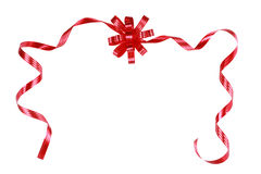 Red bow and ribbons Royalty Free Stock Images