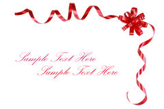 Red bow and ribbons Royalty Free Stock Photos