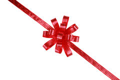 Red bow and ribbons Stock Photo