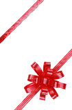 Red bow and ribbons Royalty Free Stock Photography