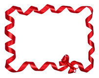 Red Bow ribbons border Royalty Free Stock Photography