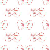 Red bow seamless Royalty Free Stock Images