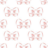 Red bow seamless Royalty Free Stock Photos