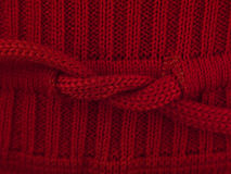 Red bow sweater macro Royalty Free Stock Photo