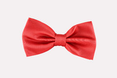 Red bow tie close up. On white background Stock Image