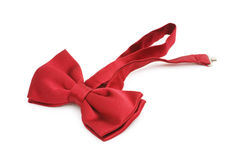 Red bow tie isolated Stock Photos