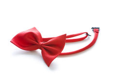 Red bow tie isolated Royalty Free Stock Photography