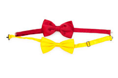 Red bow tie isolated Royalty Free Stock Photo