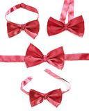 Red bow tie isolated Stock Photo