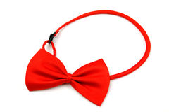 Red bow tie isolated on white Stock Photos
