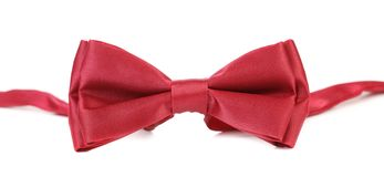 Red bow tie. Royalty Free Stock Images