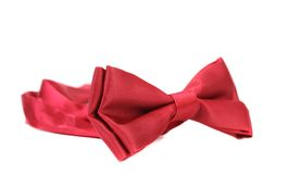 Red bow tie isolated on white Royalty Free Stock Photography