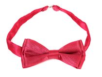 Red bow tie. Royalty Free Stock Image
