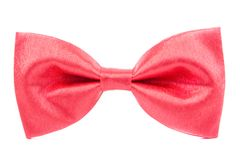 Red bow tie isolated Royalty Free Stock Image