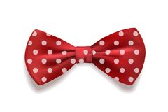 Red bow tie polka dots isolated on white background. Vector illustration. Red bow tie polka dots isolated on white background. Vector illustration Royalty Free Stock Image