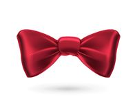Red bow tie. On white background vector illustration