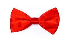 Red bow tie. On white background royalty free stock images
