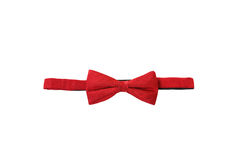 Red bow. Tie on white background Royalty Free Stock Photo