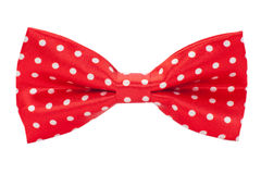 A red bow tie on a white background Stock Photography