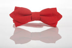 Red bow tie on a white background Royalty Free Stock Photos