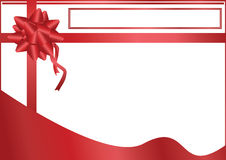 Red Bow Title Space_eps. Illustration of red bow with white background and space to write your title and text Royalty Free Stock Image