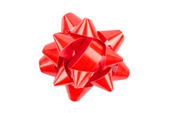 Red Bow From Top Stock Photography