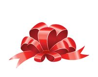 Red bow vector Royalty Free Stock Images