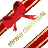 Red Bow vector illustration Royalty Free Stock Image