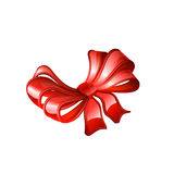 Red bow. Vector Royalty Free Stock Photography