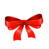 Red bow. Vector Royalty Free Stock Image